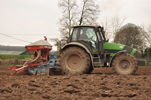 Deutz Fahr Agrotron 150.7 Tractor with a Kverneland Accord DA-S Seed Drill & Rabe Power Harrow