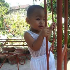 #babyJJ enjoying the breeze at the garden swing