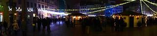 Warsaw Christmas lights panorama