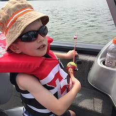This guy went fishing with daddy and grandpa. He had a pretty cool day and won a prize remote control car. #LegerLane #LoveTheOutdoors