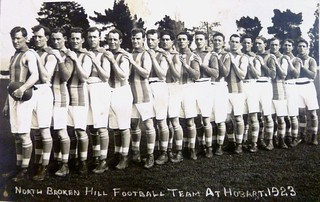 North Broken Hill Football Team at Hobart - 1923
