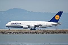 Lufthansa Airbus A380 D-AIMD touchdown smoke DSC_0638