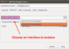 Linux bridge on Network Manager