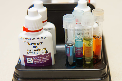 PH, Ammonia, Nitrite, and Nitrate results for the API Freshwater Master Test Kit