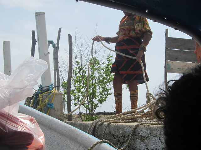 Kuna Woman Assisting Our Departure