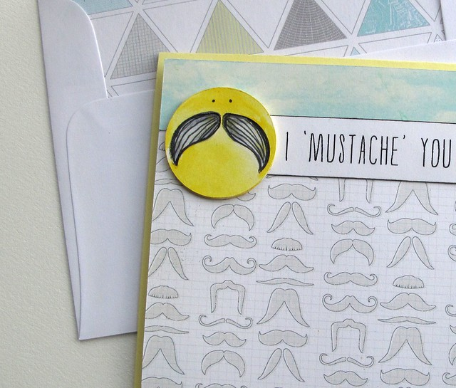 mustache you a question doodle detail