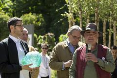 Pierre-Alexandre Risser du bureau d'études Horticulture & Jardins, vainqueur du trophée Daum pour le prix de la création paysagère.Jardins Jardin 2015 aux Tuileries - Paris