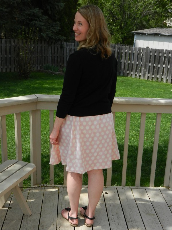 Rae skirt with cardigan back