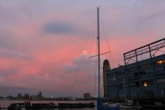 Pink sky, marina