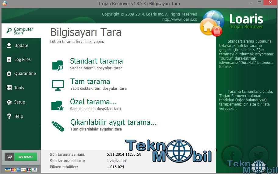 Loaris Trojan Remover Full v2.0.37 Türkçe