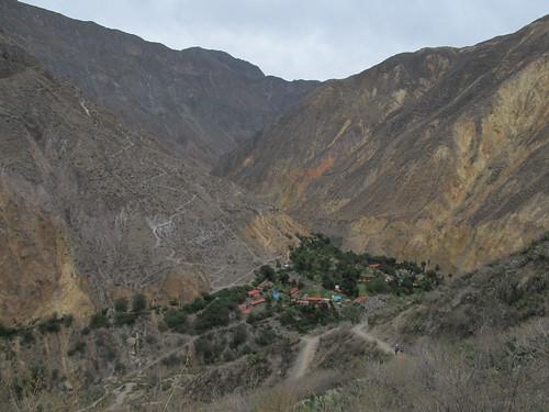 Trek du Cañon de Colca: l'oasis de Sangalle, où nous dormirons cette nuit