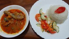 Chicken Stew and Rice, Kutetere Motel, Arusha, Tan…