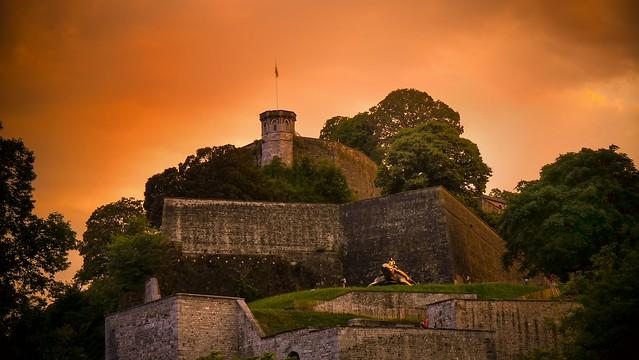 sunset -citadelle Namur belgium