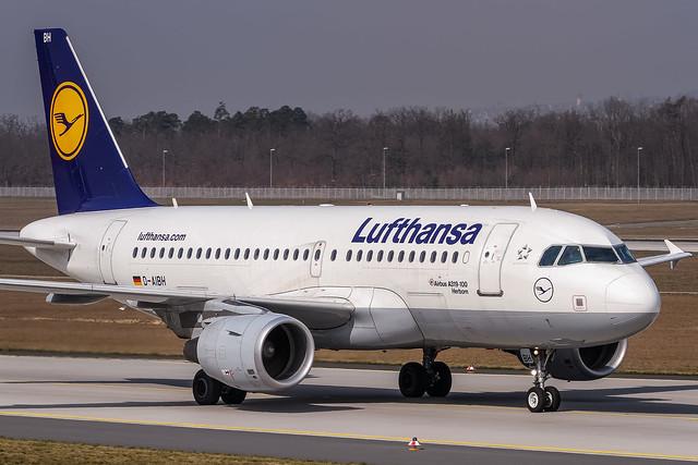 D-AIBH Lufthansa Airbus A319-112 coming from Bremen (EDDW) @ Frankfurt (EDDF) / 08.04.2015