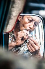 Chain Smoking Driver