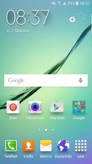 Home screen ของ Samsung Galaxy S6 edge
