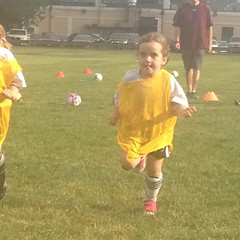 Obligatory #soccer #picture. With her tongue sticking out. How can she run that way?