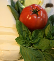 Basil ~ Tomato ~ ~ Mozzarella Cheese ~ Garlic  ~ Olive Oil ~ Salt & Pepper