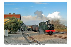 Cayeux. No. E332 & train from St. Valery Canal. 18.9.11
