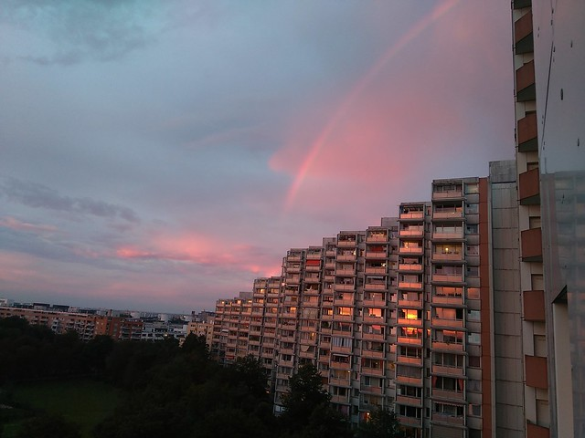 Solpor e arco da vella- Sunset and rainbow