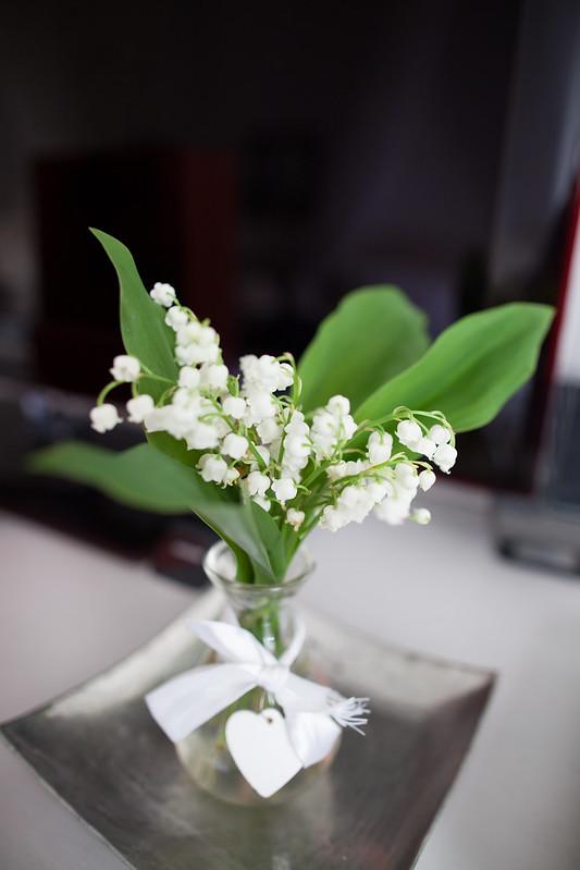 房裡有束好美的鈴蘭花