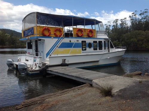Free Spirit Cruise Boat at Wharf, Coolongolook River, Coolongolook, NSW 16.11.2014