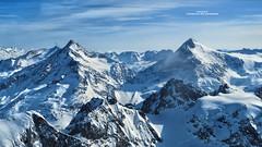 Fleckistock and Sustenhorn - Titlis mountain top view