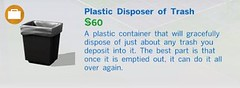 Plastic Disposer of Trash