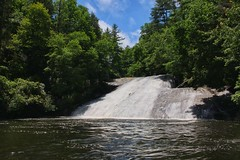 Drift Falls - just upstream a short way past Turtleback and Rainbow Falls on the Horsepasture River