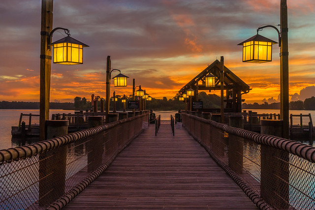 Twilight Dock Sunrise