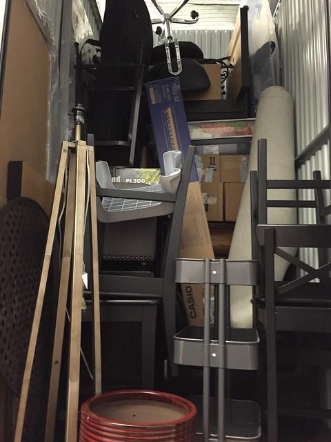 Moving into my storage unit.
