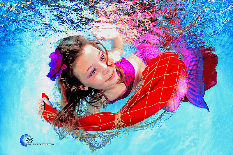 H2OFoto.de Freiberg / Sachsen / Johannisbad / Meerjungfrauenschwimmen Unterwasserfotoshooting