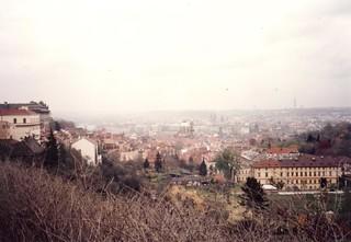 Praha from Petřín Tower 1993
