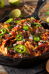 Homemade Barbecue Pulled Pork Nachos