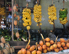 Tropical fruits at the local market