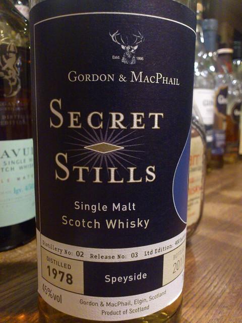 Cragganmore Secret Stills 1978 Gordon & Macphail G&M