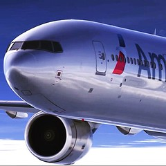 American Airlines new livery on the 777-300ER #Aircraft #Boeing #b777 #Aviation #AviationNation