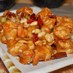 shrimp(0.0), seafood(0.0), sweet and sour(0.0), produce(0.0), kung pao chicken(1.0), food(1.0), dish(1.0), cuisine(1.0),