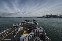 USS Essex (LHD 2) steams into Victoria Harbor, June 5. (U.S. Navy/MC3 Bradley Gee)