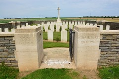 Naval Trench Cemetery at Gavrelle (France 2016)