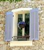 A hanging basket, Ampus, Var, Provence, France