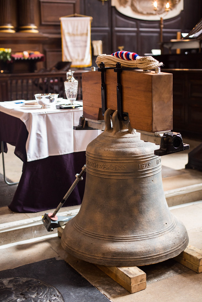 The restored bell for St Mary Abchurch