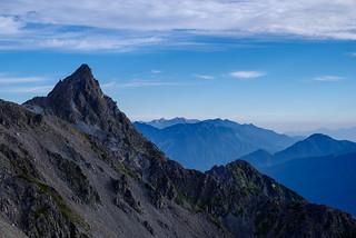 後立山が良く見える@中岳