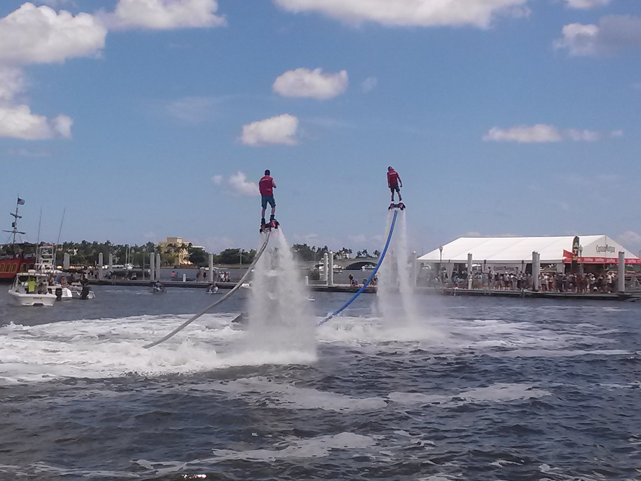 Flyboarding. photo credit: southfloridafoodandwine.com