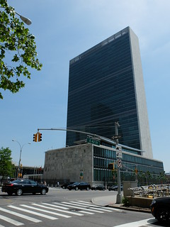 Image of United Nations Headquarters near Long Island City. newyorkcity manhattan unitednationsheadquarters