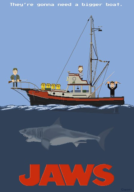 They're gonna need a bigger boat - Jaws Pixel Art