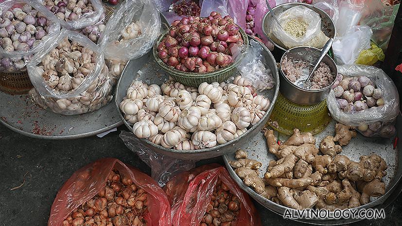 Onions, garlics, gingers