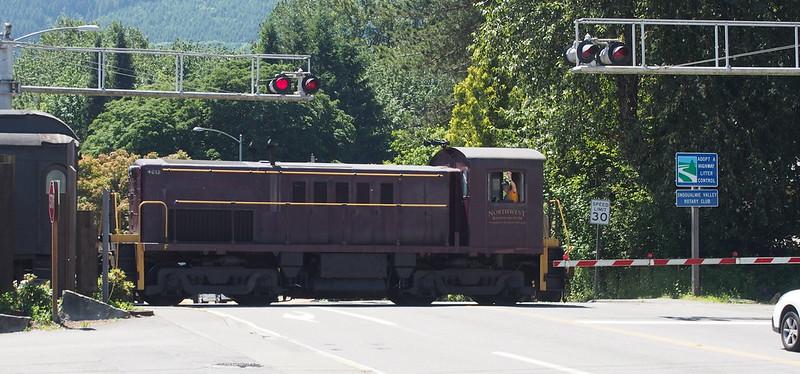 Northwest Railway Museum Train: The engineer is waving!