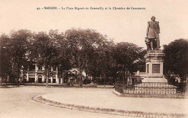 Saigon's Place Rigault de Genouilly and the Chamber of Commerce.