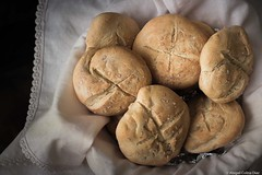 Small bread buns with sea salt #1